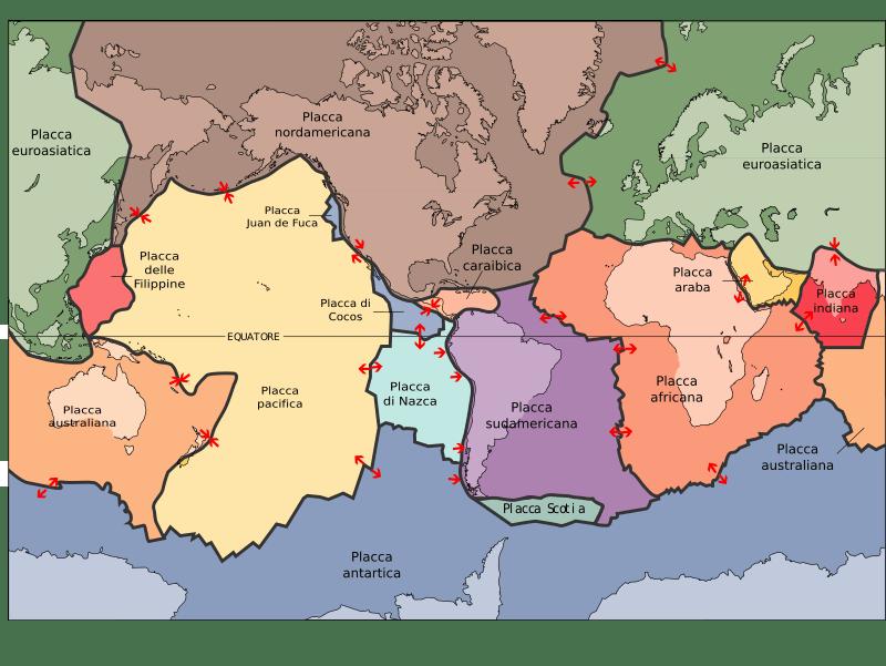 mappa-placche-tettoniche